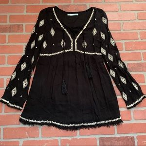 Maurice's Embroidered Boho Detailed Tunic Top
